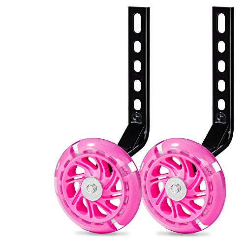 Bicycle Training Wheels for Kids Stronger Version Replacement Adjustable...
