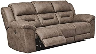 Signature Design by Ashley Stoneland Reclining Power Sofa Fossil