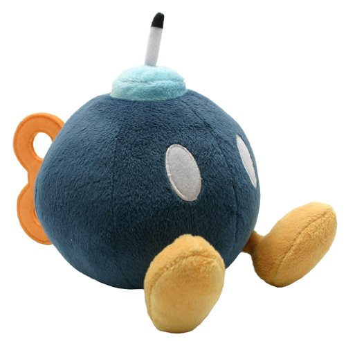 Figurine 'Nintendo' - Peluche Mario Bros Bob-omb - 14cm