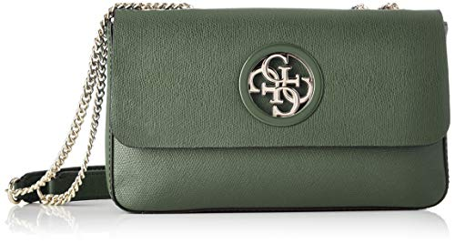 Guess Open Road, Borsa a Tracolla Donna, Verde (Forest), 6x17x28 cm (W x H x L)