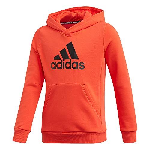 adidas Jungen YB MH BOS PO Sweatshirt, hi-Res red s18/Black, 7-8Y
