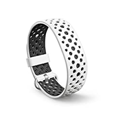 High-performance – Lightweight liquid silicone rubber. Official accessory – Pairs with any Halo Band. Secure buckle closure – Keeps your band comfortably in place during any activity. 9 sport designs – Soft solids and breathable perforated styles. S...