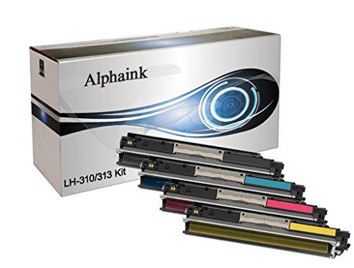 4 Toner Alphaink Compatibile CE310-KIT con HP Color Laserjet CP1025 Pro CP1020 M275