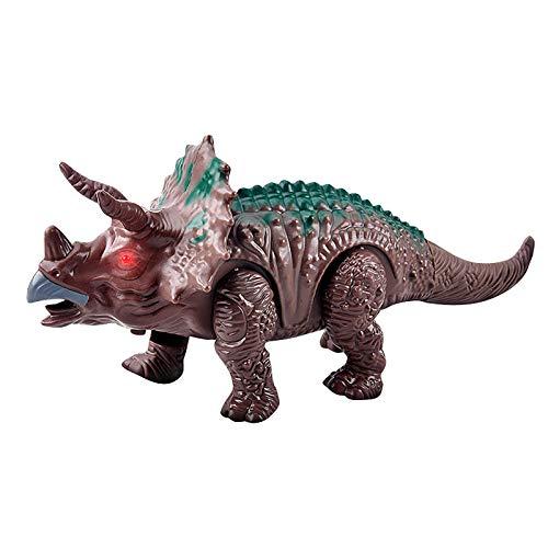 jieGorge Leuchten Sie den elektronischen Laufroboter Dinosaurier auf, der interaktives Dino-Spielzeug, Lernspielzeug, Spielzeug und Hobbys für den Ostertag brüllt (als Show)