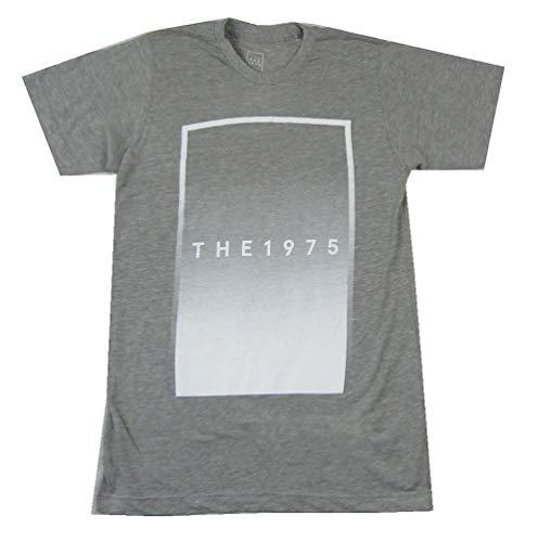 The 1975 White Rectangle Logo Heather Grey T Shirt (S)