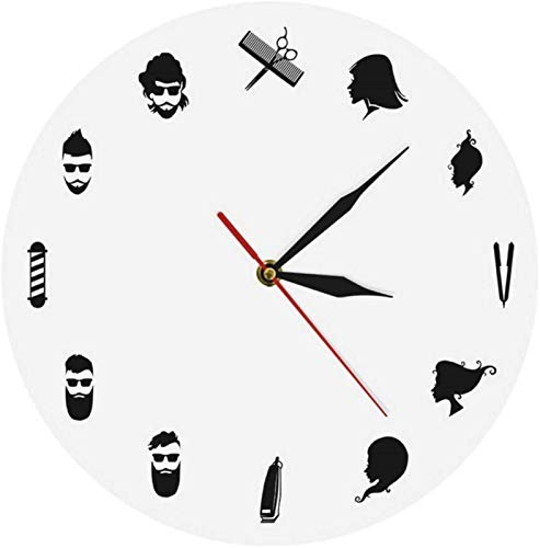 Reloj de pared de tictac Silent Silent Operado de batería Reloj de pared pareja latina bailarines decoración de pared bailando baile social moderno reloj de pared Calidad Cuarzo Sweep Home Sala de est