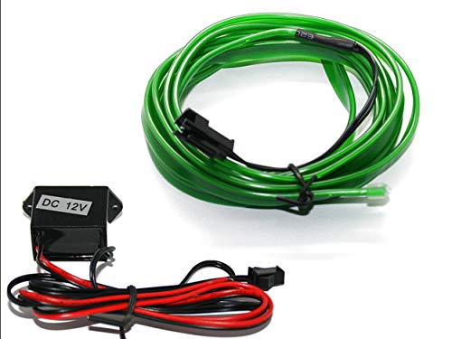 LED-Mafia Bande lumineuse EL - Éclairage d'ambiance - Câble vert - 5 m