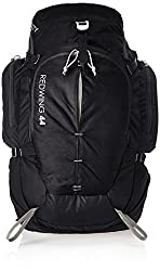 A black backpacking packpack