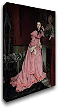 Portrait of The Marquise de Miramon, nee, Therese Feuillant 24x36 Gallery Wrapped Stretched Canvas Art by Tissot, Jacques Joseph
