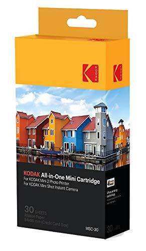 Kodak–Cartuccia MC di stampa fotografica mini, colori All-in-One (inchiostro e carta),confezione di 30, compatibile con fotocamera Mini Shot, stampante Mini 2