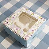 Paquete de 15 cajas de papel para cupcakes, paquete de tartas, para chocolate, cake pops, postres, galletas, tartas, muffins, para el día de San Valentín, envoltura de dulces para almacenamiento