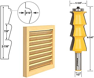 Yonico 18150 Louvre Shutter Style Router Bit 1/2-Inch Shank