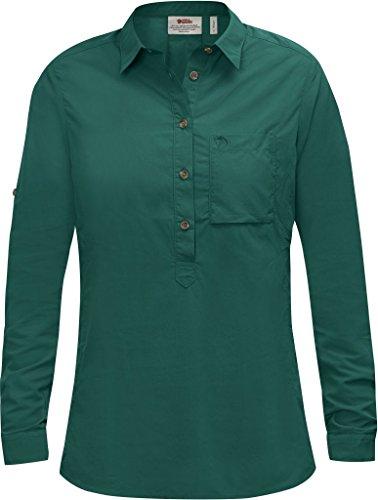 FJÄLLRÄVEN Mujer High Coast Camiseta LS W Camisa de Manga Larga, Todo el año, Mujer, Color Copper Green, tamaño M