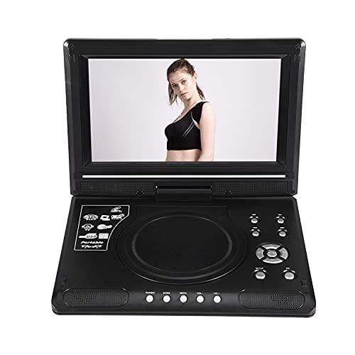 Tragbarer DVD-Player für das Auto, 24,6 cm (9,8 Zoll), drehbares Display für den Auto-Player unterstützt SD-Karte/USB/CD/DVD-Akku mit Fernbedienung