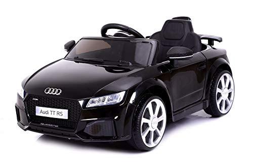 RIRICAR Kinder Elektroauto, Audi TT RS, Schwarz, 1 Sitzer, 2.4 Ghz Fernbedienung, 24 Monate - 5 Jahre, Batterie 12V - 4AH