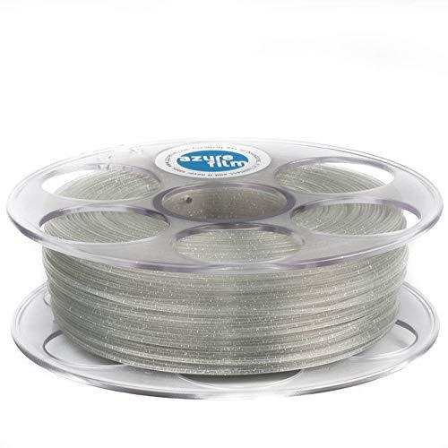 Azurefilm 3D Filamento PLA Glitter para impresión 3D profesional 1,75 mm - Accesorios de impresión 3D indispensables - Precisión dimensional alta +/- 0,02 mm, bobina 1 kg, natural
