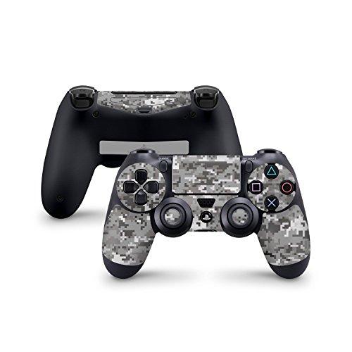 Set etichette adesive con motivo per controller Sony Playstation 4, set etichette, adesivi, set di decorazione per PS4 (anche per PS4 Slim & PS4 Pro), Digital Urban Camo