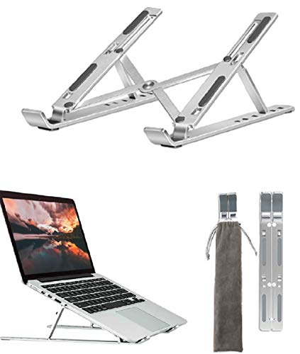 "HFGHGDF Aluminio Ordenador Mesa 8 Ajustable Stand Soporte Ordenador Ventilado Plegable Laptop Stand Ligero Soporte Mesa para portatiles Otros 11-17"""