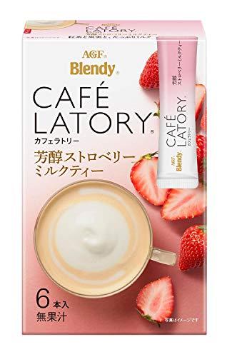 AGF ブレンディ カフェラトリー スティック 芳醇ストロベリーミルクティー 6本 ×6箱 【 紅茶 スティック 】【 フルーツティー 】