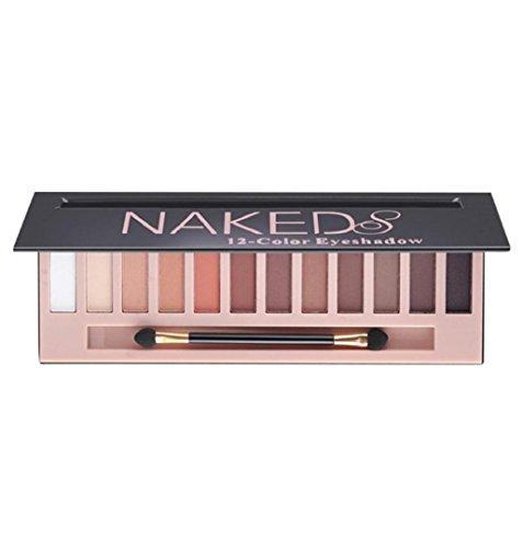 ZEZKT-Beauty Lidschatten-Palette Profi-Augenpalette mit 12 Farben Nude Bronze Schimmer Smokey...