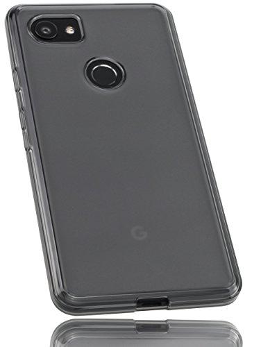 mumbi Hülle kompatibel mit Google Pixel 2 XL Handy Hülle Handyhülle, transparent schwarz