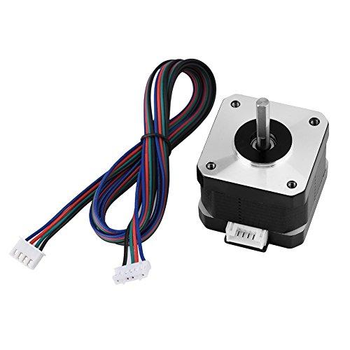 Wendry Motor Paso a Paso,Motor Paso a Paso Híbrido de Alto Torque 4 Cables,Motor Paso a Paso 42 para Impresora 3D(12V 1.3A 0.30Nm)