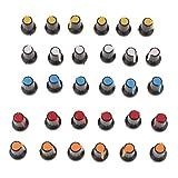 30x Manopola Potenziometro Cappello Knob Manopole Plastica Multicolori...