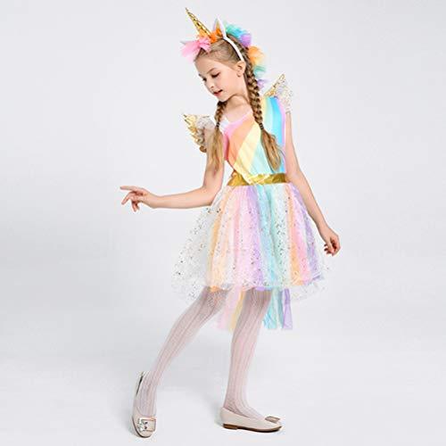 Amosfun Tres Hermosos,Hermosos y Elegantes Disfraces de niño,Disfraces de Unicornio,Disfraces...