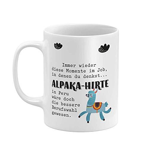 Kaffee Tasse ALPAKA-HIRTE Keramikbecher 12 Oz Beidseitig Bedruckt Coffee Cup für ihre Männer Frauen Büro Papa Mama Kids personalisierte Geburtstag