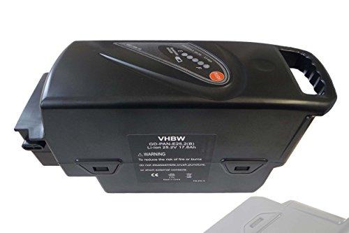 vhbw Batterie Remplacement pour Panasonic NKY224B02, NKY281B2, NKY314B2, NKY335B2 pour E-Bike (17600mAh, 25,2V, Li-ION)