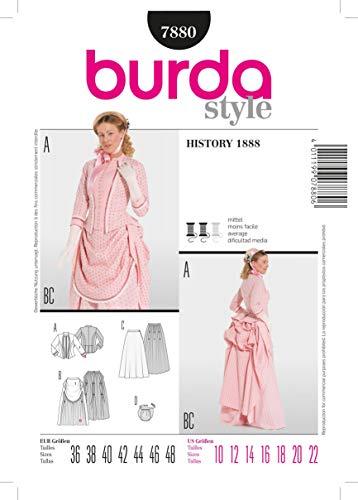 Burda Schnittmuster 7880 History 1888 Gr. 36-48