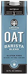 Califia Farms Unsweetened Oatmilk Barista Blend, 32 Oz | Whole Rolled Oats | Dairy Free | Coffee Cre
