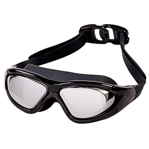 LIMESI Gafas para Nadar a Prueba de Fugas Miopía Polarizada Gafas de Natación Vista Amplia Lente HD Antivaho con Correa de Espejo Ajustable para Adultos y Adolescentes Miopes-3.0