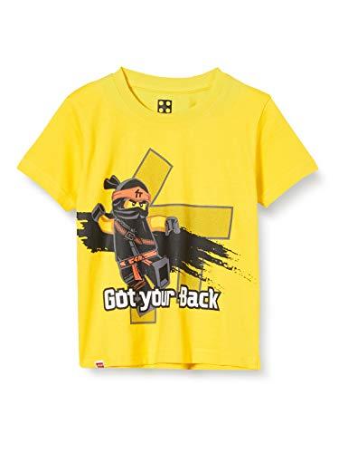 LEGO Jungen Ninjago T-Shirt, per Pack Gelb (Yellow 222), 98 (Herstellergröße: 98)