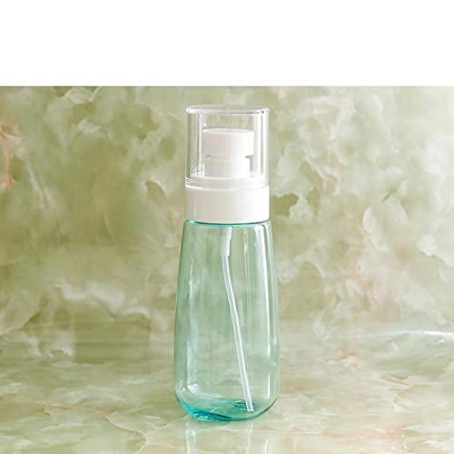 BBNBY Mini dispensador de jabón Recargable, plástico Redondo Transparente, portátil, dispensador de jabón líquido, Adecuado para Viajes al Aire Libre, Blanco, 2 onzas por Taza, k 5x13cm (2x5 pulga