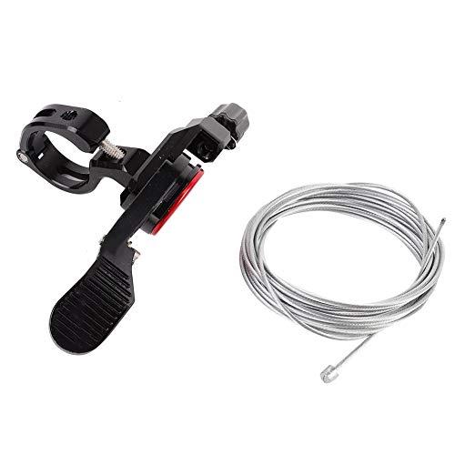Beisha Palanca Ajustable para Bicicleta, Cable para tija de sillín con cuentagotas para Bicicleta, Control Remoto, Tubo para Asiento de Bicicleta, Cable para Altura, Palanca Ajustable