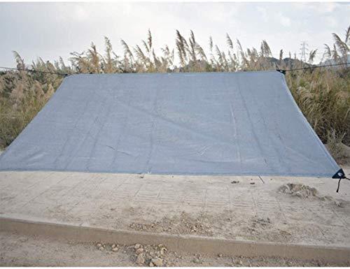 HAOLIN Schattentuch UV-beständige Glatte Kante Mit Ösenschattengewebe Greenhouse Shade Net Shade Plane,Silver-18x18ft/6x6m