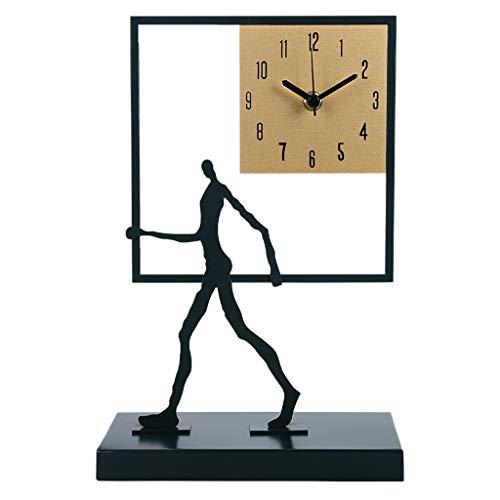 Reloj de Escritorio Reloj de escritorio geométrico cuadrado decoración de sala de estar de escritorio reloj de escritorio de escritorio de ornamento personalidad personalidad creativa silencio dormito
