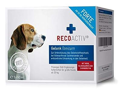 RECOACTIV® Gelenk Forte Tonicum für Hunde ab 20 kg, Gelenk Diät Nahrungsergänzungsmittel für Hunde, 3 x 90 ml, Ergänzungsmittel zur Rekonvaleszenz bei stark beanspruchten Gelenken oder zur Vorbeugung