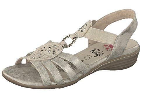 Relife Damen Schuhe Römer Sandalen 8717-11710-58 in 2 Farben mit Glitzersteinen (36, Smoke)