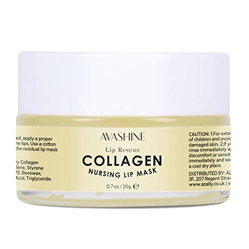 Avashine Lip Sleep Mask with Collagen Peptide, Lip Rescue, for Lip Care and Lip Treatment, Lip Moisturizer