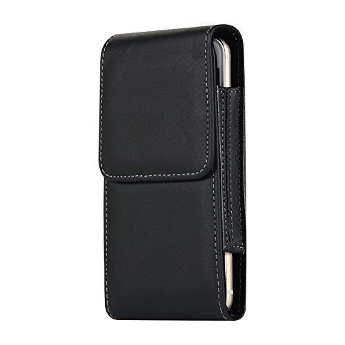 Funda de cuero premium con clip para cinturón para iPhone XR, 11, funda para teléfono móvil, cierre magnético