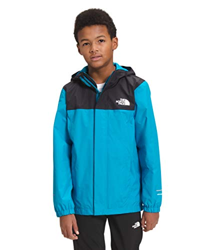 The North Face Boys' Resolve Reflective Jacket, Meridian Blue/TNF Black, S