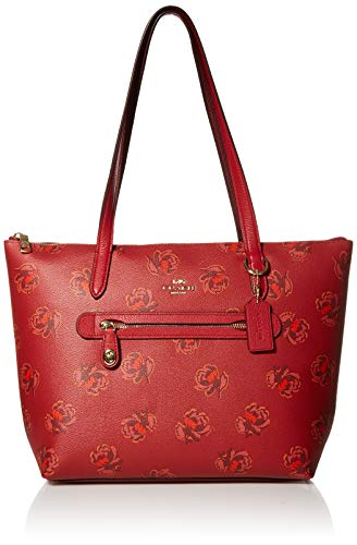 COACH Taylor Tote Red Apple/Gold One Size