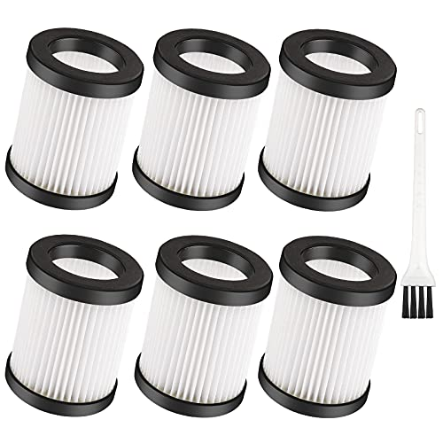 6 Pack XL-618A Fliters Replacement Filter For Moosoo XL-618A M8-PRO Cordless Vacuum Washable
