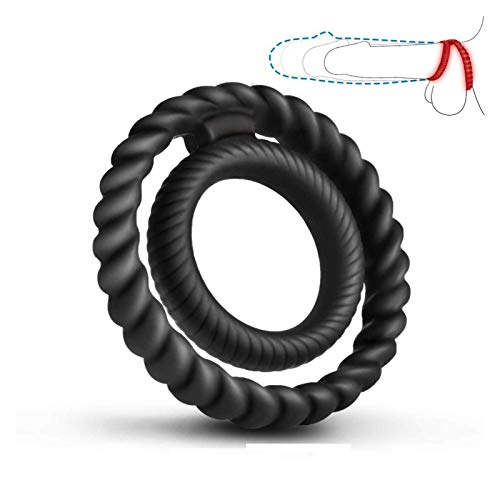Silicone Dual Pënǐs Ring Ç-Ö-ç-k Ring, Premium Stretchy Longer Harder Stronger Eréction Enha-ň-CING Toy for Male or…
