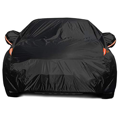 COLOR RAIN TIME Full Car Covers for Sedan, Car Cover Waterproof All Weather Windproof Dustproof UV Protection Scratch Resistant Indoor Outdoor Universal Fit for Sedan L