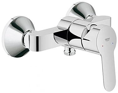 GROHE BauEdge - Grifo de baño - Mezclador monomando de ducha, válvula de retención integrada   Cromo   23333000