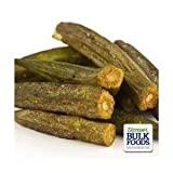 Deep green color and light and airy yet crispy texture Only from Jellybean Foods! If it doesn't say Jellybean Foods, then it's not genuine. Made with non-hydrogenated canola oil Lightly Salted 1- 8 oz bag of Okra Chips (Not a 2 pack. Not a 2 pack. No...