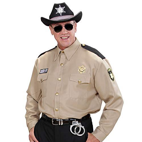 PARTY DISCOUNT® Herren-Kostüm Sheriff-Hemd, Gr. XL